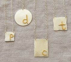 Riveted Initial Necklaces | Pottery Barn Kids