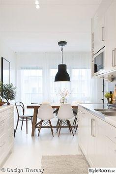 thonet,rustik matbord,eames stol,hektar ikea lampa