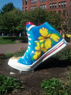 """This is one of many in Springfield Massachusetts .In the words of the late great Ed Sullivan """" That's a really big shoe!"""" Well sneaker """" lol"""""""