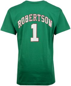 c32108007 Mitchell   Ness Men Oscar Robertson Milwaukee Bucks Hardwood Classic Player  T-Shirt