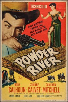 Powder River & Others Lot Century Fox, Posters X Style Y. - Available at Sunday Internet Movie Poster. Movies 2019, Old Movies, Vintage Movies, Vintage Posters, Popular Movies, Latest Movies, Rory Calhoun, Unique Poster, Movies Now Playing