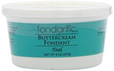 Fondarific Buttercream Fondant, Teal, 8 Ounce -- You can find more details at http://www.amazon.com/gp/product/B00GTGJBAE/?tag=pinbaking-20&pkl=130716010610