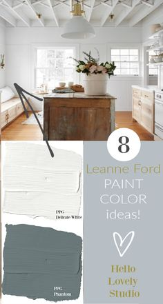 Light Grey Paint Colors, Light Blue Paints, Wall Paint Colors, White Paints, Best White Paint, Modern Farmhouse Decor, Rustic Decor, Interior Design Inspiration, Colorful Interiors