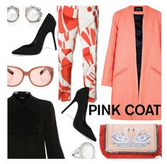 """""""Pretty Pink Coats"""" by stacey-lynne ❤ liked on Polyvore featuring Paper London, Elie Tahari, Fendi, STELLA McCARTNEY, Ippolita, Tiffany & Co. and Acne Studios"""