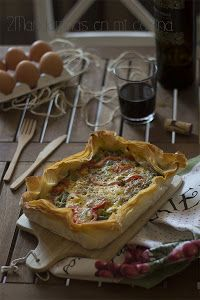 Pastel verduras Quiches, Tapas, Healthy Cooking, Cooking Recipes, Pasta Filo, Savory Tart, Kitchen Dishes, Empanadas, Vegetable Dishes