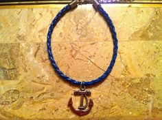 Anchor Charm on Blue Braid. $10.00, via Etsy.