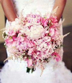 Boughtet astilbe wedding