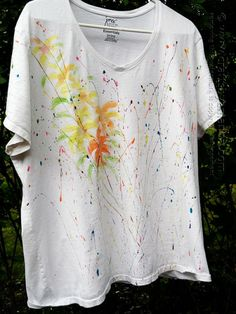 Jackson Pollock Inspired Tee by @Amanda Formaro of Crafts by Amanda