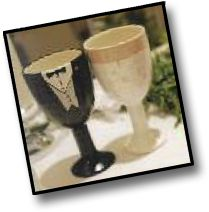 If an Elephant Can Paint... paint-your-own pottery studio  Custom painted toasting goblets!