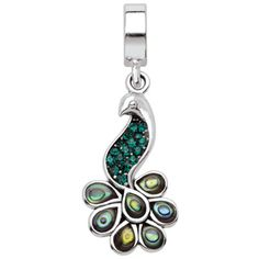 I've tagged a product on Zales: Persona® Sterling Silver Peacock with Green Crystals Dangle Bead $50