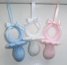 Knitting Pattern. Dummy / Soother Pram Charm by KnittingByPost on Etsy