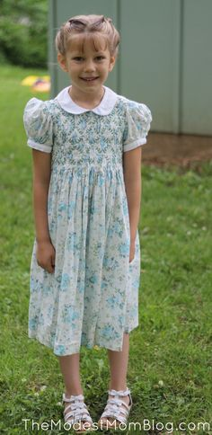 Modest Monday and a Link Up! A sweet little girl's outfit for church!
