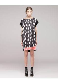 Tsumori Chisato / Scallop T-Shirt Dress. super in love with this print! Could do similar effect