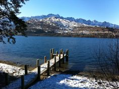 Snow on our jetty