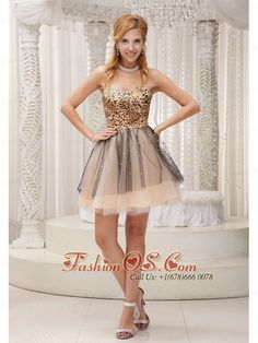 A-line Strapless Organza Gold Mini-length Dama Dress for ...