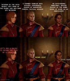 """My Lavellan really did go """"Hold up, you're asking a Dalish to do what now?"""" I like the incredulous dialogue options."""
