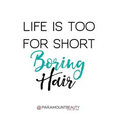 Keep your #hair game strong with Paramount Beauty!