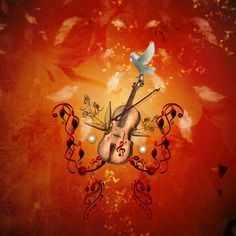 Loving this pic Violin with violin bow and dove by Heike Köhnen (nicky2342) via @mipic_app