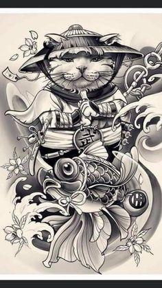 Small Japanese Tattoo, Japanese Tattoo Designs, Mexican Art Tattoos, Asian Tattoos, Wolf Tattoo Sleeve, Sleeve Tattoos, Tatoo Art, Body Art Tattoos, Koi Dragon Tattoo