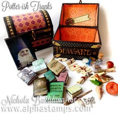 Alpha Stamps News » An Eerie Tale & Potter-ish Trunks by Nichola Battilana