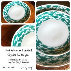 wstoreyshop - original and hand-painted reclaimed wreath plates