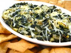 WW hot spinach and artichoke dip