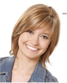 hairstyles for round faces and thin hair and over 40 | casual medium straight hairstyle