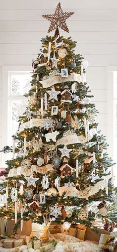 rustic christmas tree rustic christmas - Christmas Trees Decorated