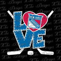 Love Rangers - New York Rangers - Hockey SVG File - Vector Design Download - Cut File by TCTeeDesigns on Etsy