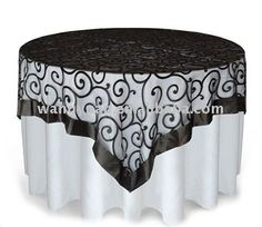embroidered organza table overlay