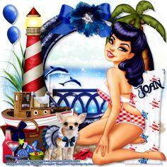 """MI RINCÓN GÓTICO: CT DE PINUPBOMBSHELLS """"BEACH GIRL"""", con Design by ..."""