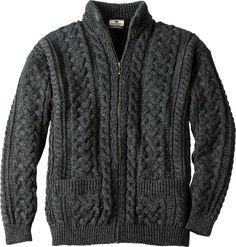 Authentic Irish Donegal Merino Wool Sweater: This handsome sweater is knit in Ireland to last for generations with 100% Merino wool, so it feels soft and cozy, never scratchy against the skin.