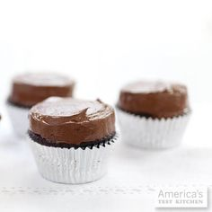 Ultimate Chocolate Cupcakes with Ganache Filling, from Cook's Illustrated May 2010