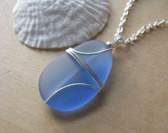 Sea Glass Jewelry Bright Green Beach Glass por BostonSeaglass