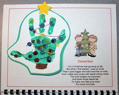 Handprint calendar -Decembre