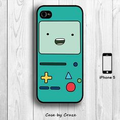 Adventure Time Beemo iPhone 5 / 5S Hard Case Cartoon BMO Back Cover (Black, White, Clear). $9.99, via Etsy.
