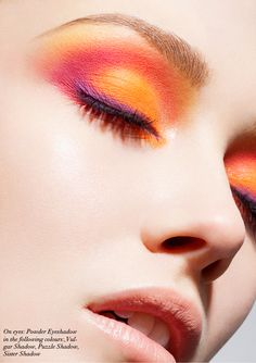 an unnatural colour for makeup, although it is mere shades darker than the model's skin tone.