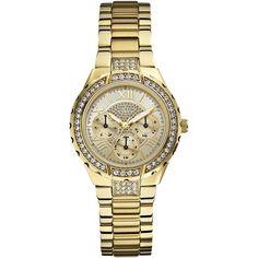 Gave Guess Dameshorloge (Overige kleuren) Gold Plated Bracelets, Metal Bracelets, Skagen, Daniel Wellington Watch, Stainless Steel Bracelet, Quartz Watch, Fashion Watches, Seiko, Michael Kors Watch