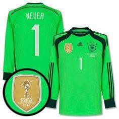 Duitsland Keepersshirt 2015-2016  Neuer 1  WK 2014 Finale Transfer