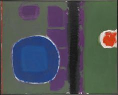 Patrick Heron 'Green and Purple Painting with Blue Disc : May 1960', 1960 © The estate of Patrick Heron