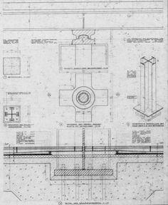 Detalle de cubierta. Nueva Galería Nacional, Mies van der Rohe, Berlín, 1968.