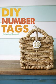 Number tags, plus recommendation for good gold detail paint via @Ashley Mills {the handmade home}