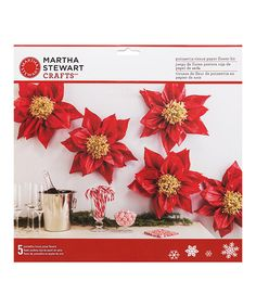 Another great find on #zulily! Red Tissue Paper Poinsettia Set #zulilyfinds
