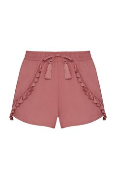 Blush Tassel Shorts These adorable and stylish shorts are adorned with tassel embellishments and are perfect for Spring and Summer Atmosphere Shorts Kids Outfits, Casual Outfits, Cute Outfits, Fashion Pants, Fashion Outfits, Womens Fashion, Short Court, Pants For Women, Clothes For Women