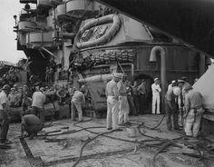 Uss Maryland, War Photography, Big Guns, Battleship, World War Ii, Ww2, Great Places, Ships, Pearl