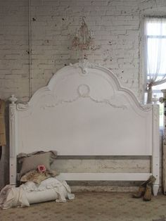Painted Cottage Shabby White Romance King by paintedcottages, $1795.00