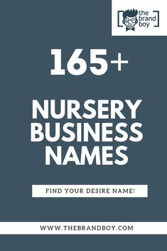 If you have a green passion, with some space, a source of water, you may want to try your hand at operating a plant nursery.Creative, best Nursery Business names Nursery Name, Plant Nursery, Next Brand, Catchy Names, Brand Stickers, Business Names, Company Names, Succulents, Blog