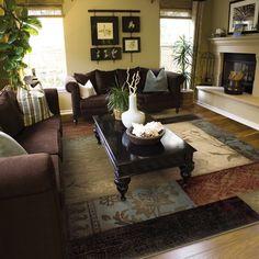 Living Room Green & Purples