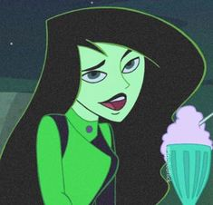 Shego the Kim Possible animated series cartoon character. Girl Cartoon Characters, Cartoon Shows, Cartoon Pics, Aesthetic Collage, Aesthetic Anime, Photo Wall Collage, Picture Wall, Kim Possible Characters, Dark Green Aesthetic
