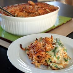 Cheddar Green Bean Casserole - WITHOUT Cream of whatever soup